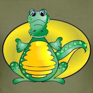 Krokodil Alligator - Männer Slim Fit T-Shirt