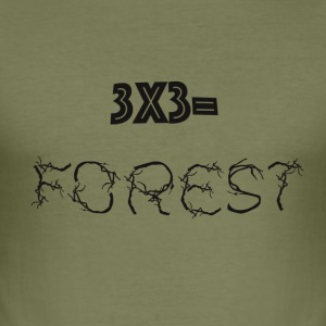 3x3=Forest - slim fit T-shirt