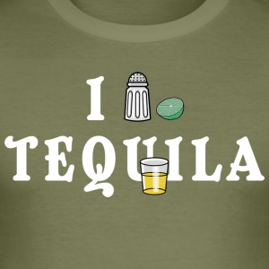 I Love Tequila - Herre Slim Fit T-Shirt