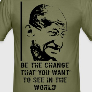 Mahatma Gandhi - Men's Slim Fit T-Shirt