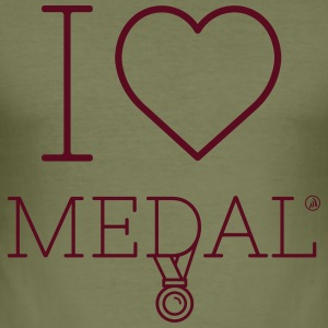 I love Medal - Men's Slim Fit T-Shirt