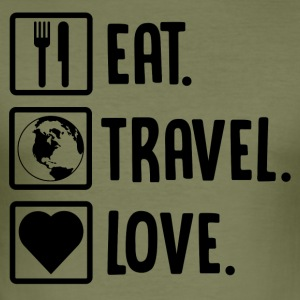 ++ Eat, Travel, Love ++ - Men's Slim Fit T-Shirt
