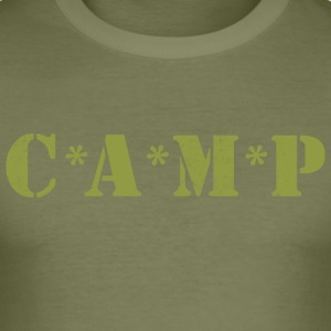 Army Camp - Tee shirt près du corps Homme