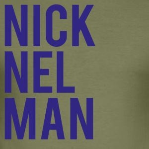 Nick Elman-01 - Männer Slim Fit T-Shirt