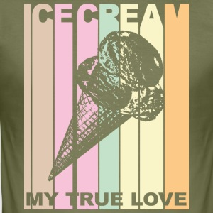Ice Cream T-shirt design in vintage look - slim fit T-shirt