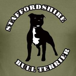 Staffordshire Bull Terrier - Slim Fit T-shirt herr
