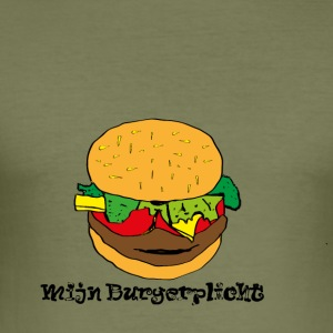 burgerplicht - slim fit T-shirt