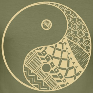 Ying Yang - Männer Slim Fit T-Shirt