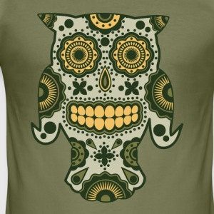 Magic Forest Sugar Skull - Herre Slim Fit T-Shirt
