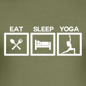Eat Sleep Yoga - Cycle - Men's Slim Fit T-Shirt