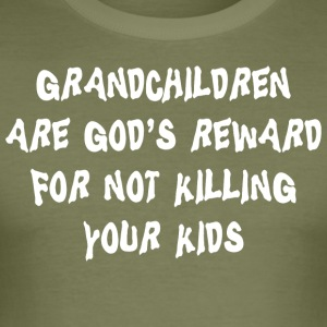Grandchildren God's Reward - Men's Slim Fit T-Shirt