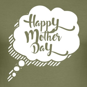 Glad Mothers Day - MOM - Slim Fit T-skjorte for menn