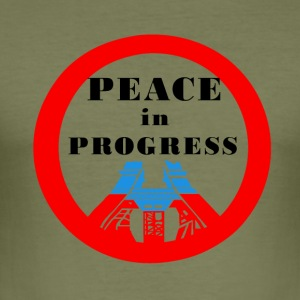 Peace in Progress - Slim Fit T-skjorte for menn