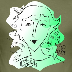 Face 9 green (The Look series) - Men's Slim Fit T-Shirt