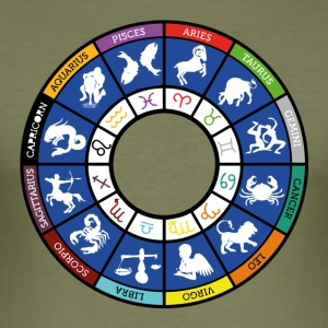 Graphic of the twelve signs of the zodiac - Men's Slim Fit T-Shirt