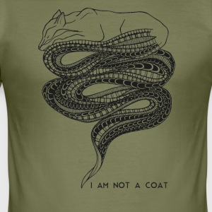 I am not a coat - Vosje / Fox - slim fit T-shirt