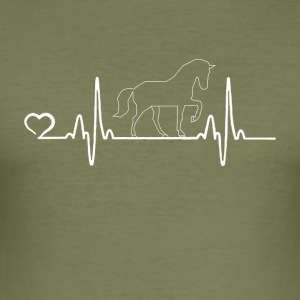 Häst - Heartbeat - Slim Fit T-shirt herr