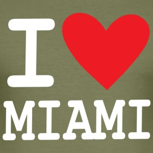 I Love Miami - Herre Slim Fit T-Shirt