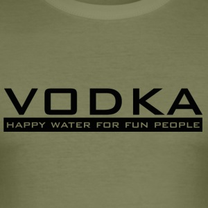 Vodka - happy vann - Slim Fit T-skjorte for menn