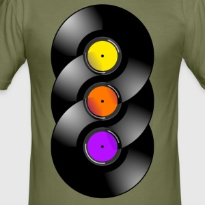 vinyl Chakra - Men's Slim Fit T-Shirt