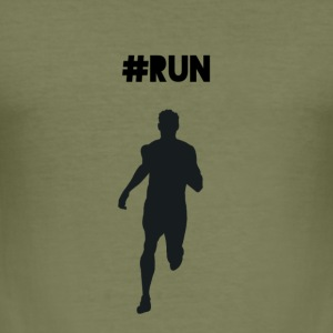 #RUN - Slim Fit T-shirt herr