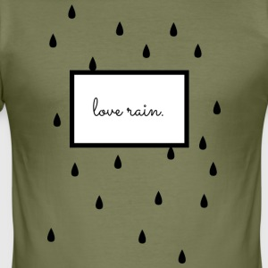 love rain. Scandinavian design, black / white - Men's Slim Fit T-Shirt