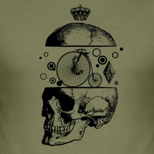 black_skull - Herre Slim Fit T-Shirt
