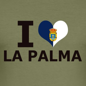 I LOVE LA PALMA FLAG - Männer Slim Fit T-Shirt