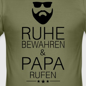 keep calm and call ++ ++ Papa - Men's Slim Fit T-Shirt