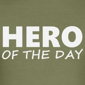 Hero of the Day 2 (2203) - Men's Slim Fit T-Shirt