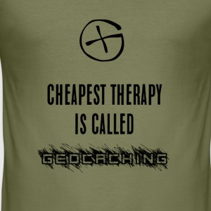 geocaching terapi - Slim Fit T-skjorte for menn