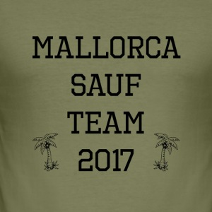 Mallorca sauf Team 2017 - Männer Slim Fit T-Shirt