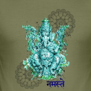 Ganesh for formue - Slim Fit T-skjorte for menn