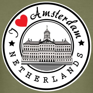 Amsterdam I Love You - Tee shirt près du corps Homme