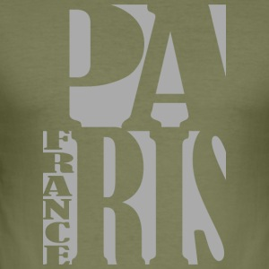 paris Typo - Men's Slim Fit T-Shirt