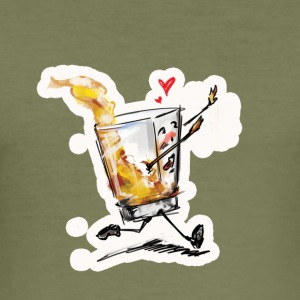 running Whiskey - Men's Slim Fit T-Shirt