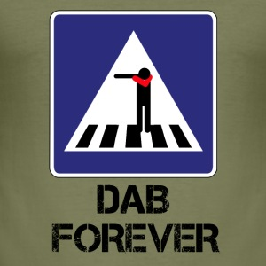 FOREVER ZEBRA CROSSING DAB / DAB AND THEN THROUGH - Men's Slim Fit T-Shirt