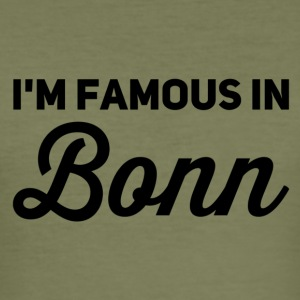 i m famous in bonn - Männer Slim Fit T-Shirt