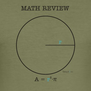 Math Review Circle - Maglietta aderente da uomo