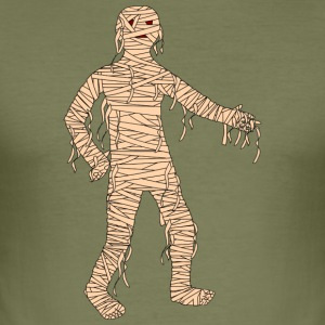 Mummy Halloween - Slim Fit T-skjorte for menn