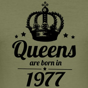Queen 1977 - Männer Slim Fit T-Shirt