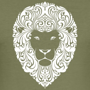 lion med ornament hår 2 - Herre Slim Fit T-Shirt