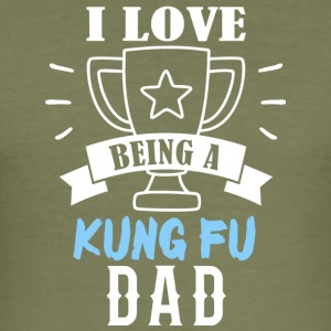 KUNG FU pappa - Slim Fit T-shirt herr