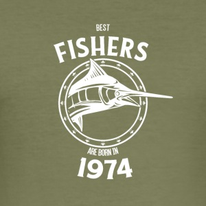 Present for fishers born in 1974 - Men's Slim Fit T-Shirt