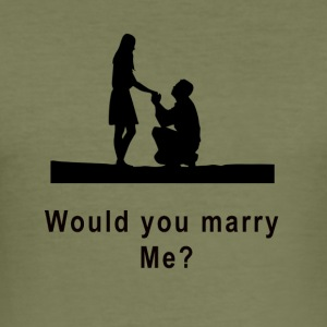 marriage proposal - Men's Slim Fit T-Shirt