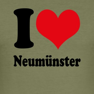 I love Neumünster - Men's Slim Fit T-Shirt