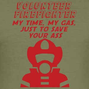 Fire Department: Fire Fighters - is all about ass-busting - Men's Slim Fit T-Shirt