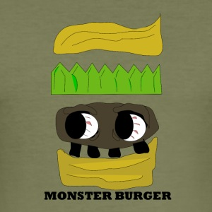MONSTER BURGER - Slim Fit T-skjorte for menn