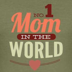 number 1 mom in the world - Men's Slim Fit T-Shirt