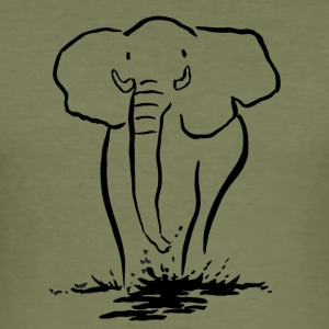 Elephant in the water - Men's Slim Fit T-Shirt